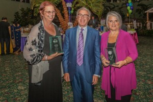 (Left to right): Birthday Bash Honorees Susan Swensen, ACS Board Member and Volunteer, Dr. Hal Teitelbaum, Crystal Run Healthcare and Marsha Rand, Better Homes and Gardens Rand Realty.