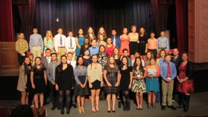 The 2015 National Honor Society and National Junior Honor Society inductees at George G. Baker High School in Tuxedo.
