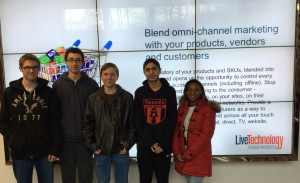 Jeremy Dedel, left, Carlos Maldonado, Arik Mozejko, Vasilis Lymberis and Jane Ann Leandre are some of the students beginning a job shadowing program at Live Technology in Tuxedo Park.
