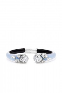 This Alexis Bittar Blue Fractured Hinge Cuff retails for $225 and the Rent The Runway sample sale price is $23.