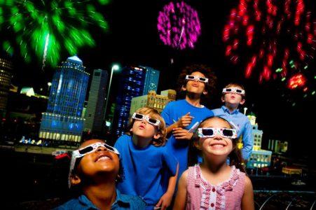 Legoland fireworks glasses