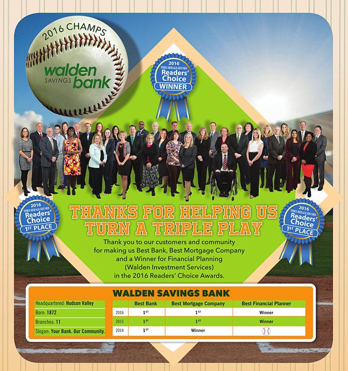 Walden Savings Bank - Triple Play Reader's Choice Awards