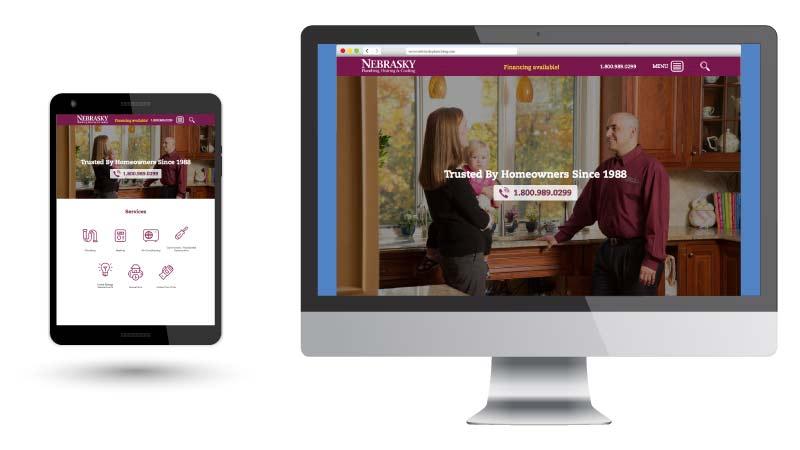 Nebrasky Plumbing Responsive Web Site